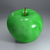 photorealistic red apple 3d 3ds