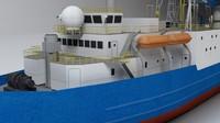 3d drill ship model