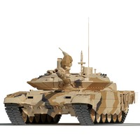 3d model russian main battle tank