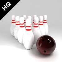3d bowling set model