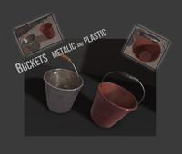 3d buckets engine model