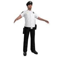 3dsmax police officer 3