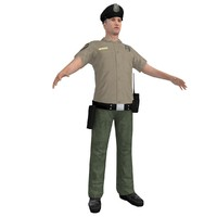 3d model of police officer