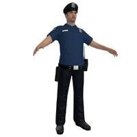 3d model police officer 6