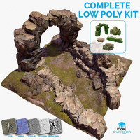 Zen Mountain Rock Terrain Environment Kit Set