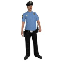 rigged police officer 2 3d max