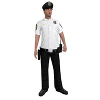 3d rigged police officer 3