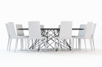3d model octa chair table