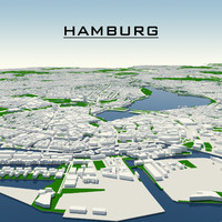 hamburg cityscape 3d model