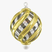 glass christmas ornament 3d model