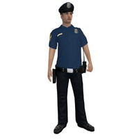 3d rigged police officer 6