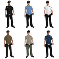 rigged police officer 3d max