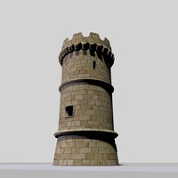 3d tower medieval model