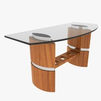 3d model glass desk