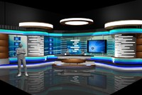 news virtual sets 3d max