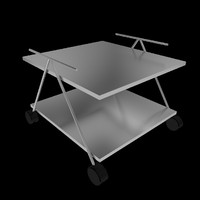 3d asset food trolley beverage model