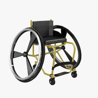 sport wheelchair 3d 3ds