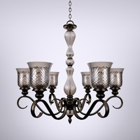 3d model carter crystal chandelier