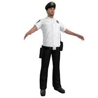 3d model police officer 3