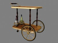 Antique Beverage Trolley