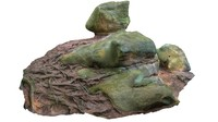 3d model of landscape rock