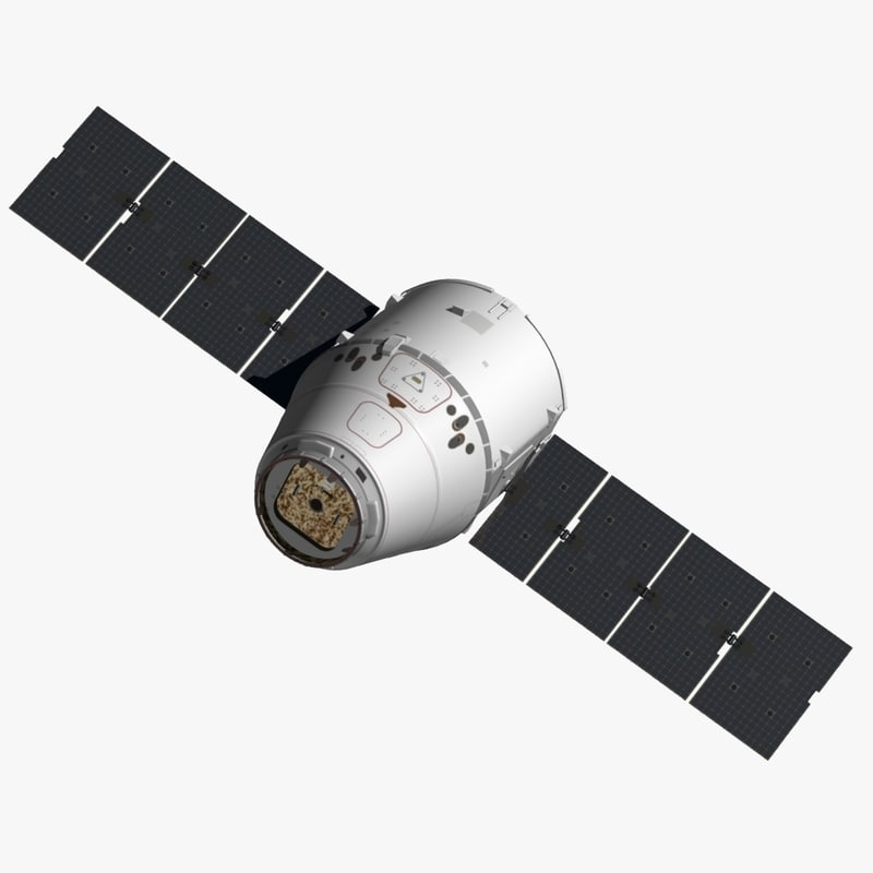 spacex dragon spacecraft space 3d model