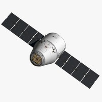 3d spacex dragon spacecraft space