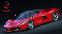 3d model ferrari laferrari