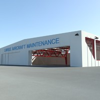 hangar aircrafts scenes 3d model