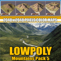 Lowpoly Mountain Pack 5