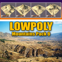 Lowpoly Mountain Pack 8