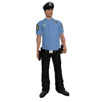 rigged police officer 2 3d model