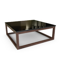 3d hudson piano finish coffee table