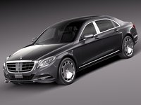 mercedes-benz s-class maybach 3d model