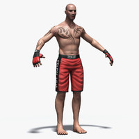 3d mial s mma fighter model
