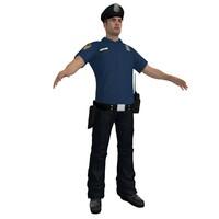 police officer 6 3d model