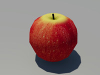 3d model juicy apple