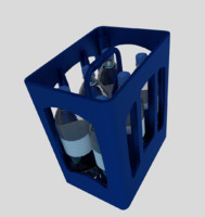 3d model of bottle crate