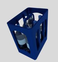3d model of bottle crate