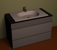 3d model water basin sink