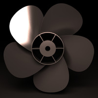 3ds max 5 bladed propeller