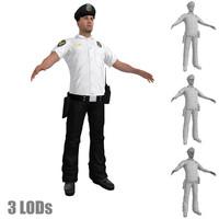 police officer 3 3d model