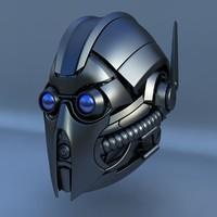 maya robot head