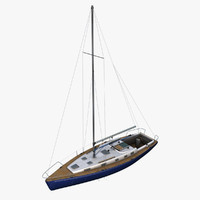 c4d boat sailboat sail
