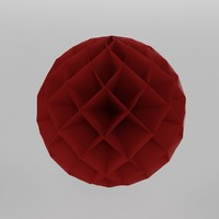 3d model honeycomb paper decoration