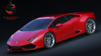 3d model lamborghini huracan lp 610-4