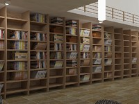 3d library realistic model