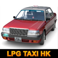 3d hong lpg taxi model