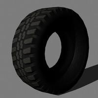 3d road tire model