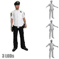 rigged police officer 3 3d model